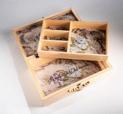 Caja de madera para moños